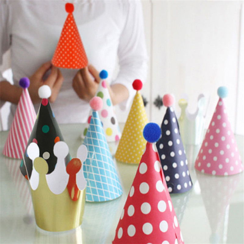 Sale 11pcsset Fashion Lovely Celebration Cone Hats Festive Birthday