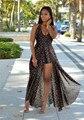Más el Tamaño 2XL Gasa Del Verano Vestidos de Las Mujeres de Vacaciones en la Playa de La Vendimia floral print dress sexy sin respaldo alto dividir larga dress 7 Color