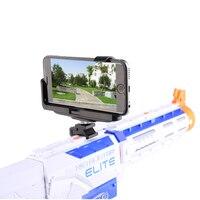 Metal Tactical Adjustable Video Live Broadcast Phone Holder Cellphone Support Mount for Nerf - Black