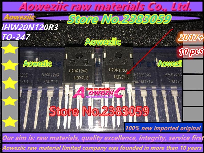 Aoweziic 100% νέο εισαγόμενο πρωτότυπο H20R1203 IHW20N120R3 TO-247 IGBT σωλήνας ισχύος επαγωγική σωλήνα ισχύος 20A 1200V