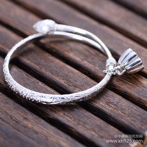 Image 4 - 925 sterling zilveren sieraden Sterling Zilver kleine lotus bloem armband vrouwelijke modellen verzending