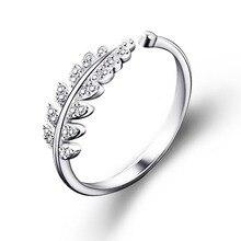LNRRABC mujer joyería moda Simple diseño abierto hoja anillo personalidad Mujer Flor anillos de boda para mujer