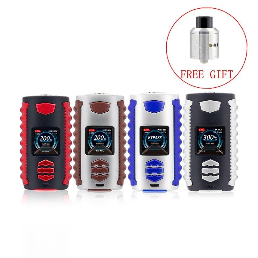 Cigarette électronique Ovanty Vega 200 w Vaporisateur Boîte mod TC/VW/Bypass Mod avec cadeau gratuit Goon RDA vs VOOPOO GLISSER