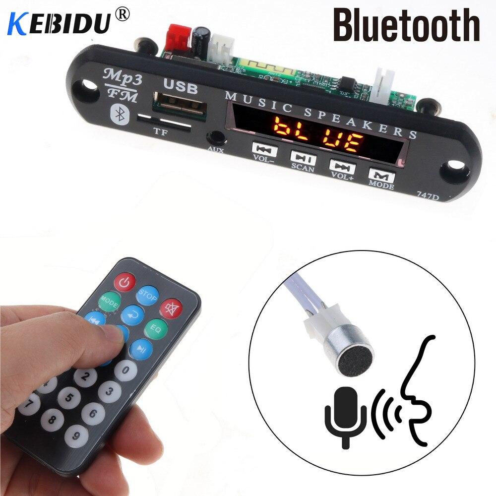Mp3-player Kebidu Bluetooth Car Kit 5 V-12 V Mp3 Player Tf Usb 3.5mm Aux Audio Decoder Board Fm Radio Für Auto Für Iphone Android Wohltuend FüR Das Sperma