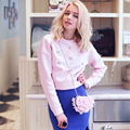 Sweatshirt Women Hoodies Diamond Mosaic Pink Longsleeve O-neck Causal Tracksuit Short Pullovers Women Hoodies Pullover