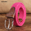 MAPASTA new ultra-narrow 2.5CM elastic stretch canvas belt pin buckle canvas belt canvas belt braided young students