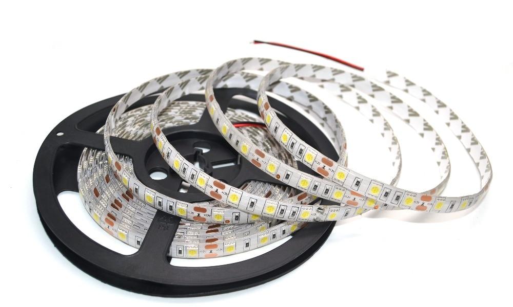 LED-csík 5050 DC 12V rugalmas LED-es LED 60 LED / m 5m / tétel RGB - LED Világítás - Fénykép 5