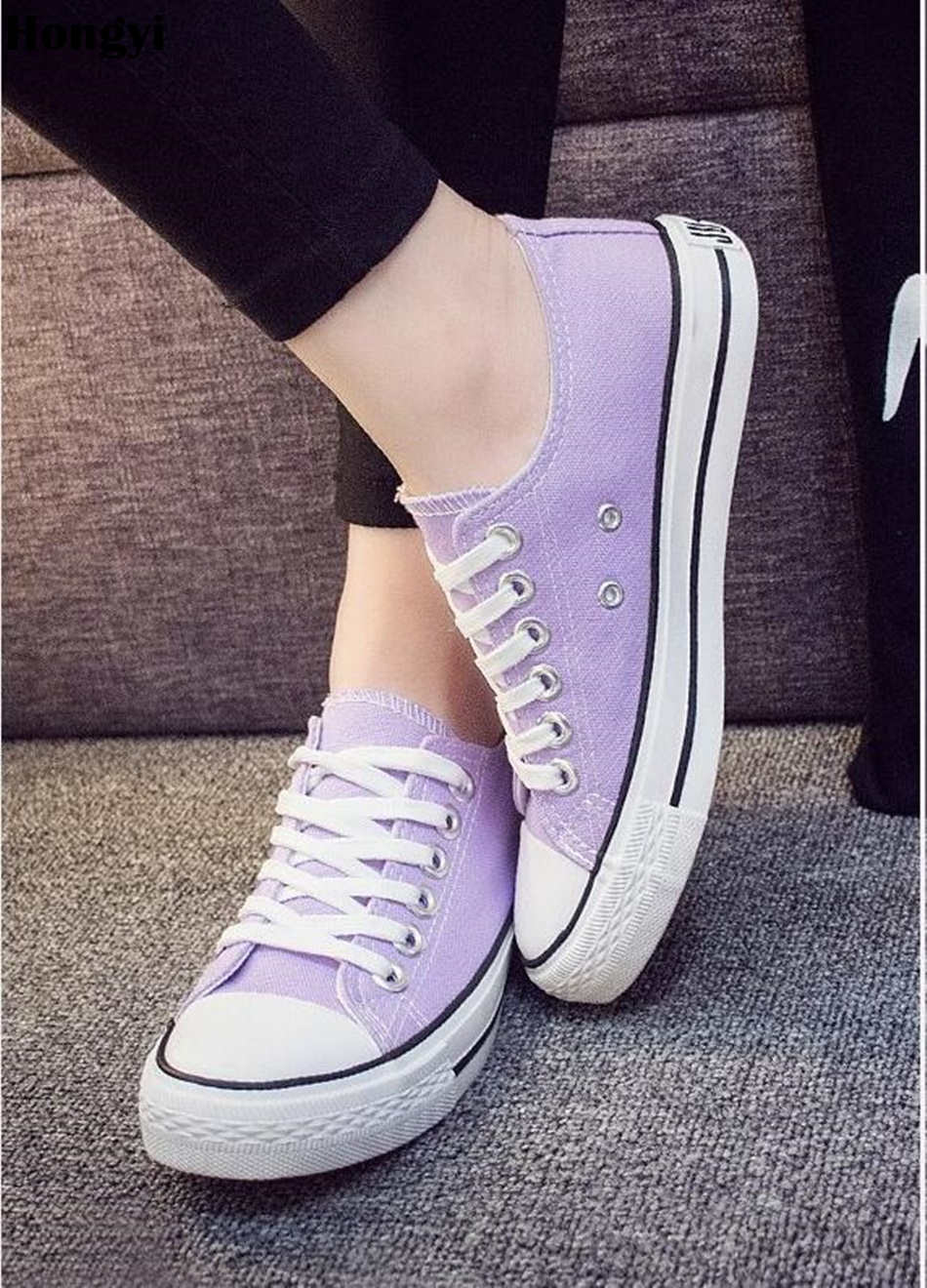 Canvas Shoes Women Lace Up Casual Shoes Woman Flats White Shoes Candy Color Breathable shoes Ladies Espadrilles Big Size 35-43 2017 new spring autumn men casual shoes breathable black high top lace up canvas shoes espadrilles fashion white men s flats