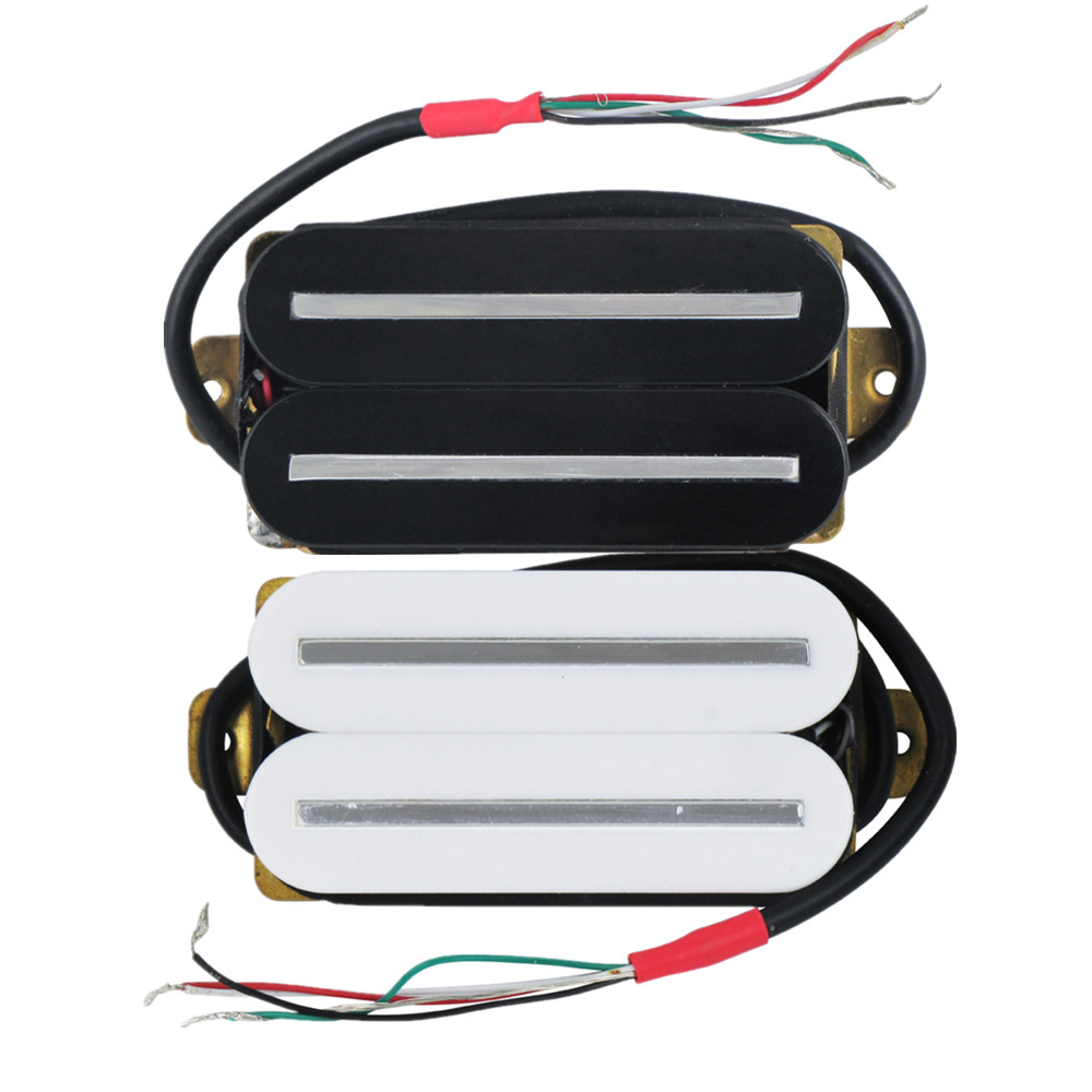 Rockfield Fat Ass Black Humbucker Pickup Set Double Open Guitar Pickups Wiring Diagrams Fleor 1pcs Hot Rail Dual Blade Electric Single Coil Ceramic 4 Wires