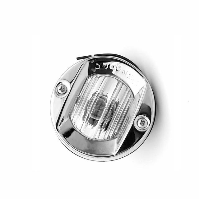 12V 24V Round Stainless Steel Marine Boat Light Navigation Transom Light 8W Tungsten Bulb Lamp Waterproof
