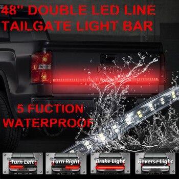 Tira De Luz Led Roja   Barra De Luz Trasera De Camión LED De 2 Filas De 48
