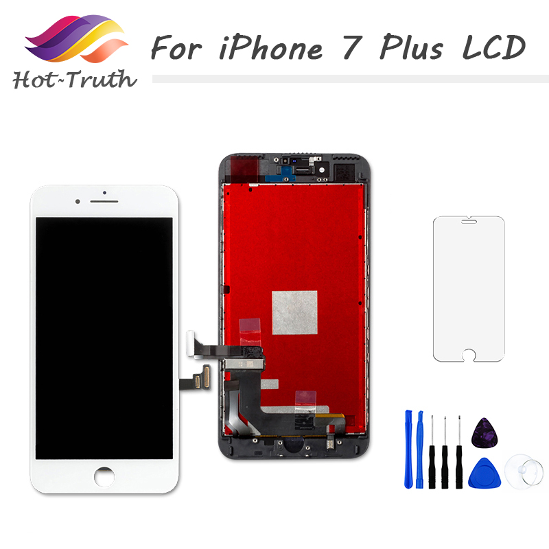 HTB1b0mGuASWBuNjSszdq6zeSpXaJ 1Pcs OEM LCD For iPhone 7 7 Plus Display Full Set Digitizer Assembly 3D Touch Screen Replacement +Front Camera+Earpiece Speaker