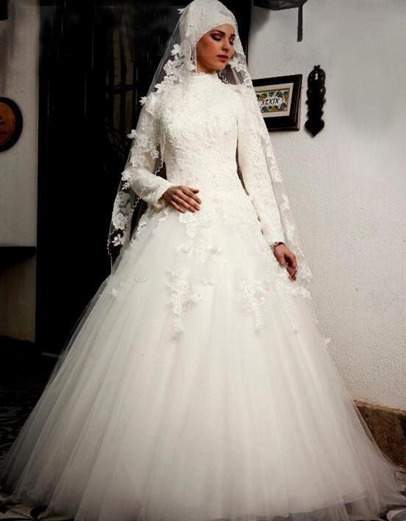 real photo arabic a line wedding dress tulle appliques couture ball gowns style designer bridal