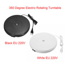 10″ 25cm Led Light 360 Degree Electric Rotating Turntable For Photography Max Load 10kg 220V EU