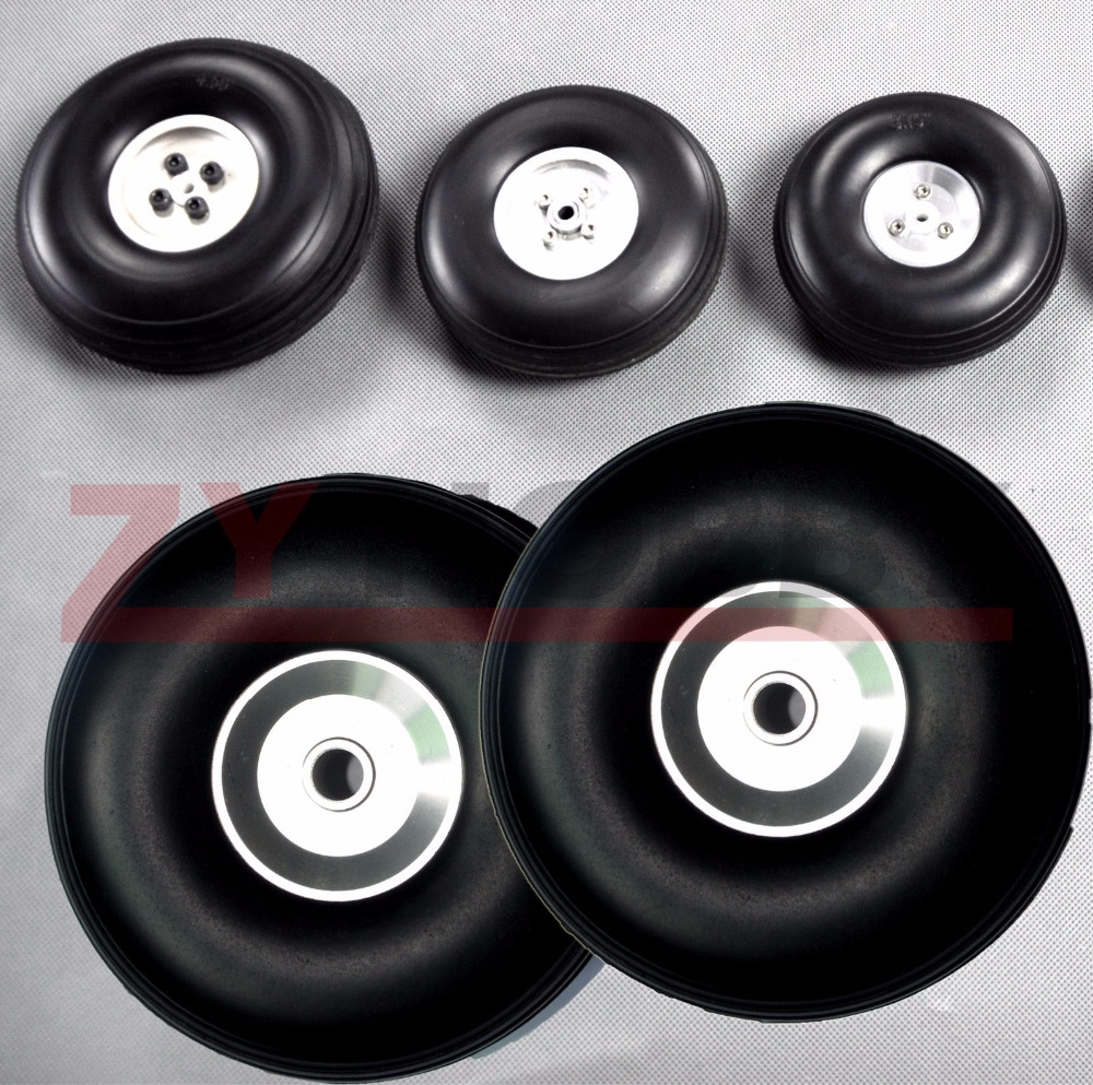 1 pair of 3 25 83mm RC Airplane PU wheel with Dia Casting Aluminum Hub NEW