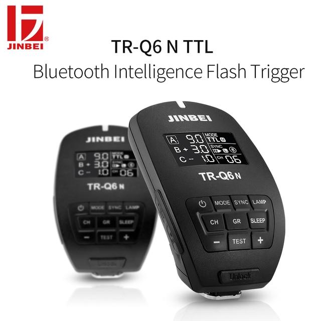 JINBEI TR-Q6 HSS Kích Hoạt cho Nikon 2.4G Đài Phát Thanh Không Dây Phòng Thu Đèn Flash TTL Transmitter Nhiếp Ảnh Chiếu Sáng Điều Khiển Từ Xa