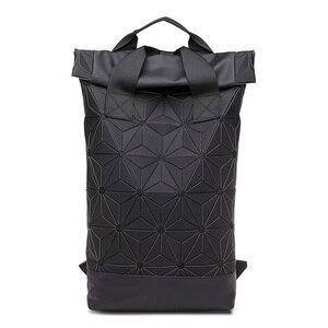 Image 4 - حقائب ظهر جديدة بتصميم هندسي مضيء للرجال والسيدات مناسبة للسفر في المدرسة وتصميم ثلاثي الأبعاد حقيبة ظهر رياضية خارجية