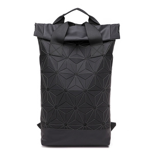 Image 4 - New Men Laptop Backpacks Women Luminous Geometric Backpack For Teenage Travel School Holographic Outdoor Sports Backpack Mochila