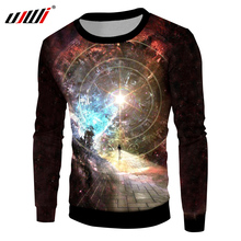 UJWI Starry Star Pullovers 2018 New Arrival Men Creative Design Galaxy Space Printed 3D Sweatshirt Hoodies Hombre Casual Sweats