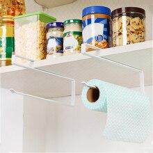 Kitchen Paper Towel Holder Hanger Organizer Storage Rack Bathroom Roll Shelf Hanging Door