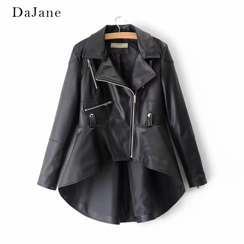 Autumn New women's PU   Leather   Jacket long-sleeved Manufacturers   Leather   Jacket Women