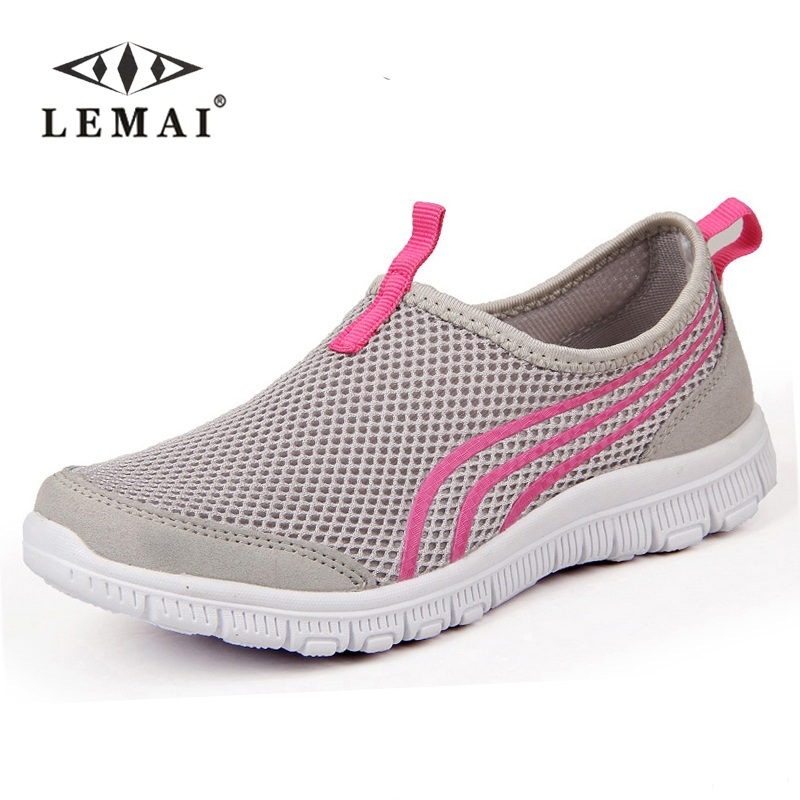 2018 New Women Light Sneakers Summer Breathable Mesh Female Running Shoes Men's Trainers Walking Outdoor Sport Comfortable 2016 women athletic running shoes for women breathable mesh sport shoes sneakers woman walking shoes zapatillas mujer