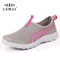 2018 Novas Mulheres Luz Tênis Verão Malha Respirável Running Shoes Formadores Walking Esporte Ao Ar Livre dos homens do Sexo Feminino Confortável