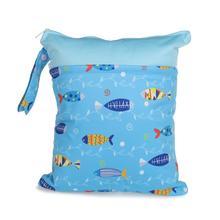 [CHOOEC]Colour Patchwork Wet Bag Washable Reusable Cloth diaper Nappies Bags Waterproof Swim Sport Travel Carry bag Size:30X36cm