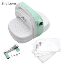 She Love Die Cutting Embossing Machine Scrapbooking Cutter Piece Die Cut Green Paper Cutter Die-Cut Machine