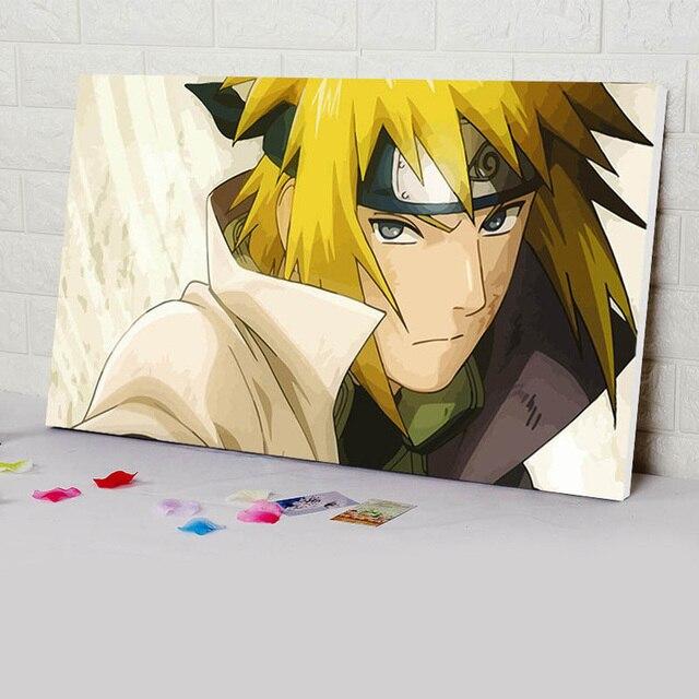 Nessuna Cornice YIYEBAOFU DIY Dipingere con i Numeri Naruto Shippuden Personaggio retr/ò Decorazione della Famiglia Pittura Decorazione della casa di Alta qualit/à Pittura murale40x50cm