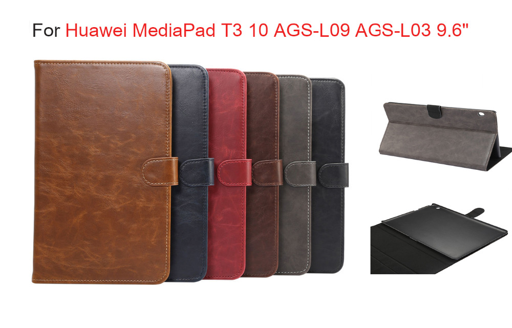 Luxury Business Smart Case For Huawei MediaPad T3 10 AGS-L09 AGS-L03 9.6 pu leathr Cover Funda Tablet for Honor Play Pad 2 9.6 cover case for huawei mediapad m3 youth lite 8 cpn w09 cpn al00 8 tablet protective cover skin free stylus free film