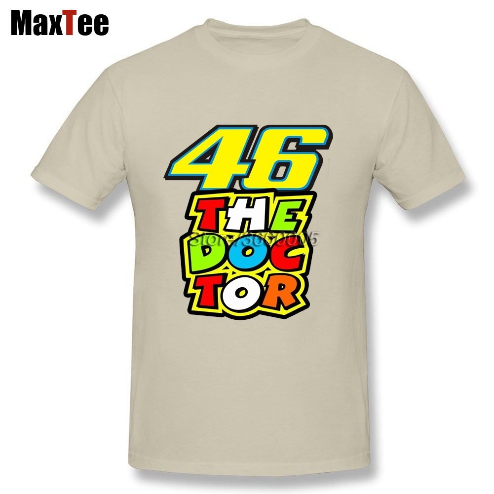Factory Wholesale The doctor Rossi VR46 Tees Shirt Mens Tees Shirt Large Size Pure Cotton Round Neck Motor GP Tees Shirt
