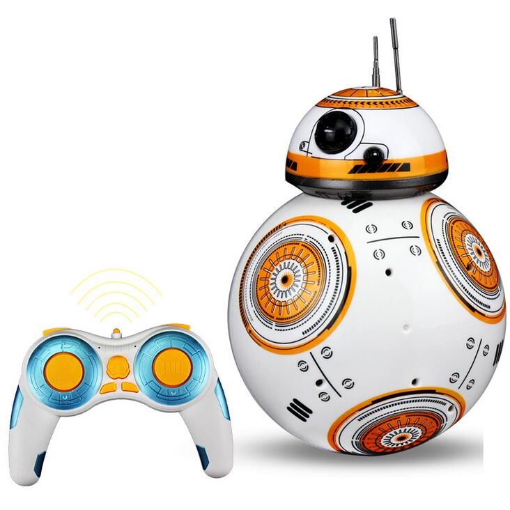 17cm Star Wars RC 2.4G BB8 Robot upgrade remote control BB9e robot intelligent with sound RC Ball kid gift boy toy 2018 new education electric rc robot toy k 1 2 4g intelligent rc robot abs dancing music remote control robot best gift kid