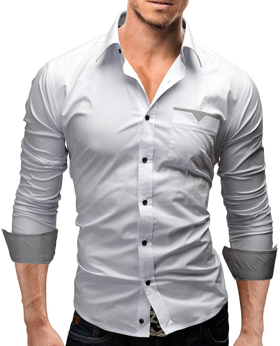 Shirt new design 2015 - Free Shipping 2015 New Arrival High Quality Solid Men Shirt Plaid Patch Long Sleeve Slim Design