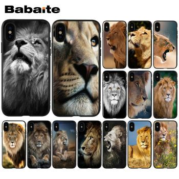 Babaite Animals lion TPU black Phone Case Cover Shell for Apple iPhone 8 7 6 6S Plus X XS MAX 5 5S SE XR Cellphones image