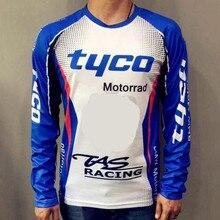 3220bad18a5b53 TAS męska z długim rękawem motocykl koszulki Tyco Motorrad Motocross Jersey  poliester Moto GP Motorsport koszulka kolarska dla .