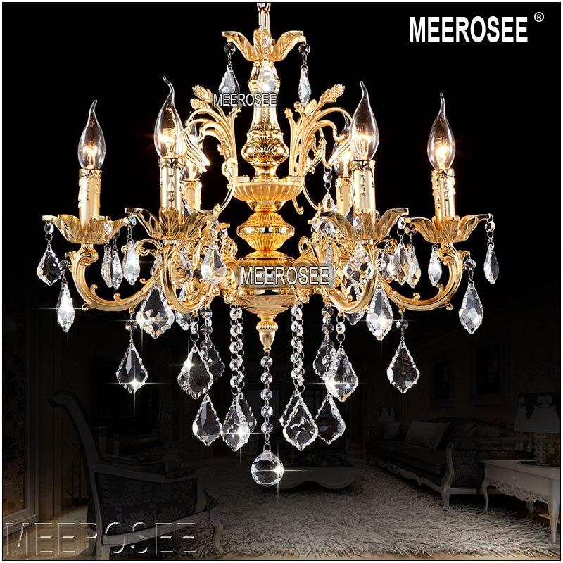 Classique Cristal Lustres Luminaire Cristal Lustre Lampes pour Foyer Hall MD8861 Clair Lustre En Cristal