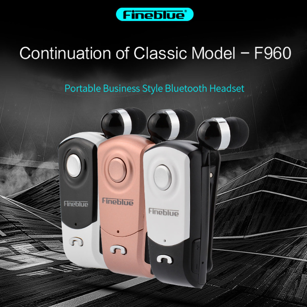 New FineBlue F960 Wireless Driver Bluetooth V4.0 Headphone Call Vibration Remind Wear Clip Driver with Microphone