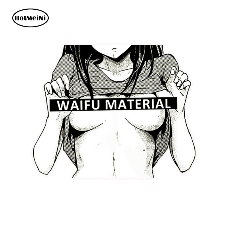 HotMeiNi 13cm x 12cm Car Styling Waifu Material Vinyl Decal Sticker Car Truck Anime Hentai Sexy Pinup Mang Girl Waterproof hot sale 1pc longhorn hilux 900mm graphic vinyl sticker for toyota hilux decals badges detailing sticker car styling accessories