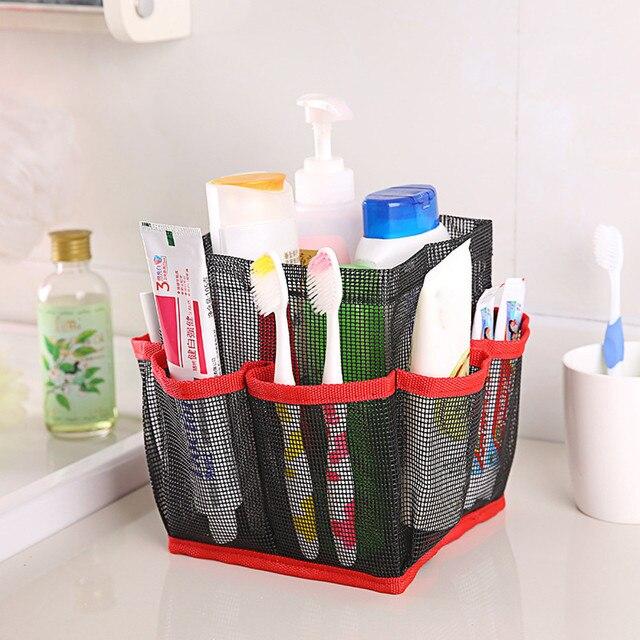 8 Basket Pockets multifunction Mesh Shower Caddy Tote Wash Bag Dorm ...