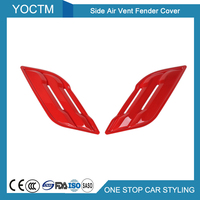 Side Air Vent Fender Cover for Ford F150 2015+ Automotive Exterior Decoration Protection Accessories Car Styling Red/Silver 2pcs