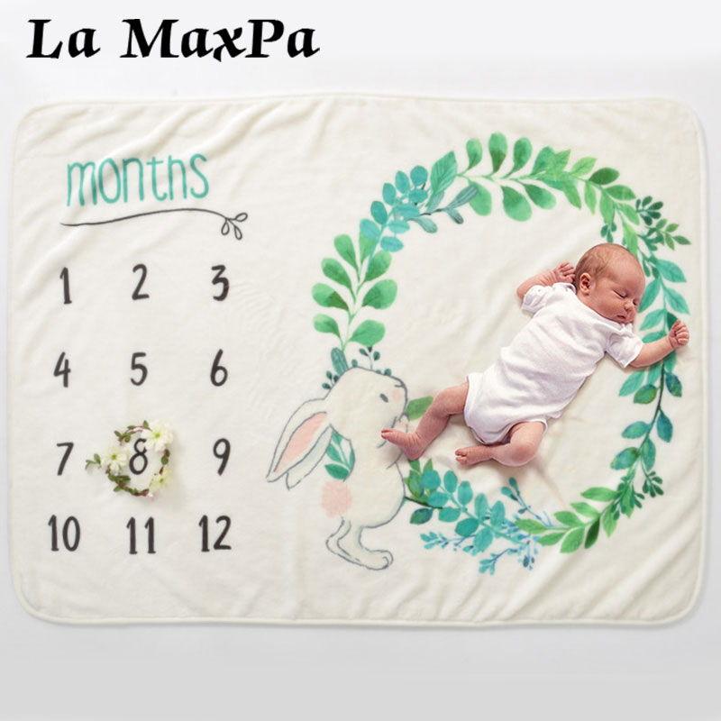 Baby Milestone Blanket Unicorn Newborn Photo Background Soft Monthly Growth Swaddle Wrap For Infant Photography Props OutfitsBaby Milestone Blanket Unicorn Newborn Photo Background Soft Monthly Growth Swaddle Wrap For Infant Photography Props Outfits