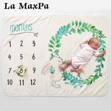 Baby Milestone Deken Eenhoorn Pasgeboren Foto Achtergrond Zachte Maandelijkse Groei Inbakeren Wrap Voor Baby Fotografie Props Outfits