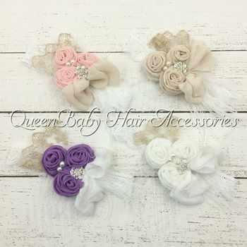 12pcs/lot Triple Slub Cotton Rosettes Headbands Rhinestone Pearl Lace Bow Headband Feather Diadema Bebe Kidocheese - DISCOUNT ITEM  0% OFF All Category