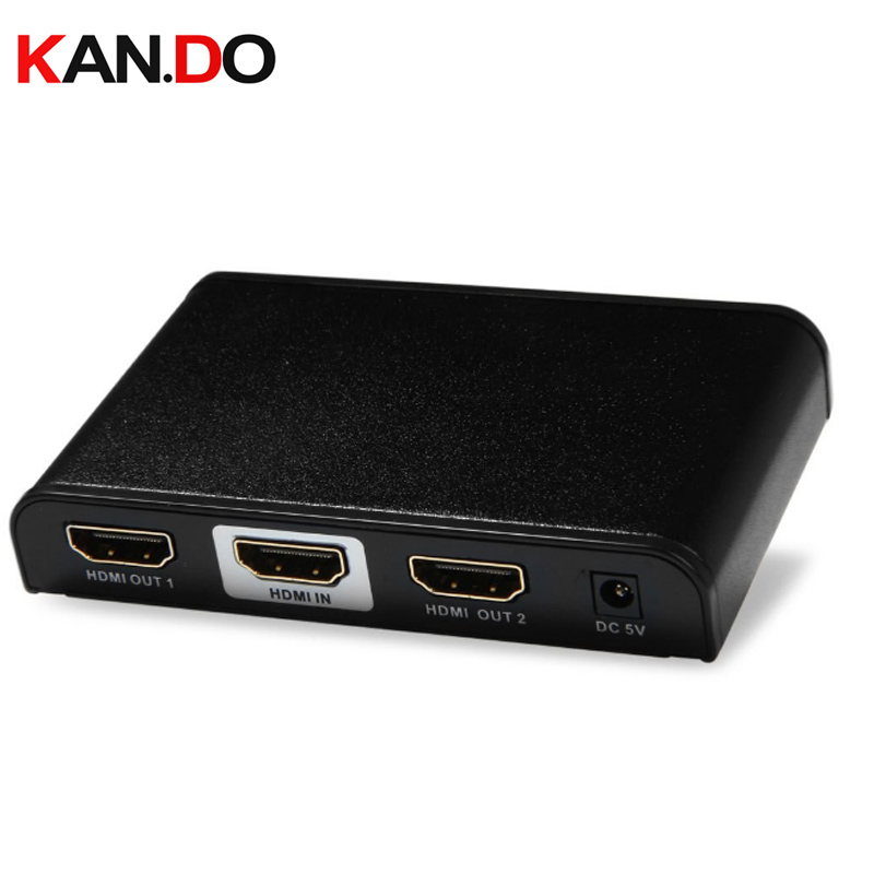 312pro High Quality 10.2Gbps Up To 30m 4K 1-2 HDMI Audio Video Cable Splitter Black Switcher 1x2 HDMI Splitter 4K X 2K