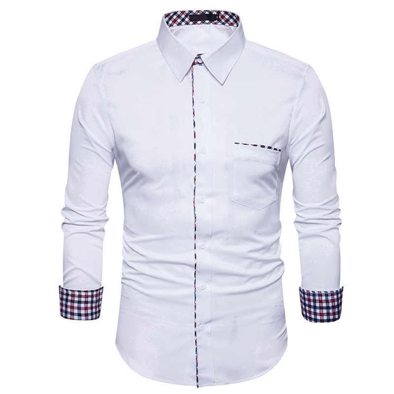 Мужская клетчатая рубашка 2017 Элитный бренд новый Для мужчин рубашка Повседневное на пуговицах, Мужская одежда, рубашки, рубашка футболка с длинными рукавами мужской рубашки 2XL
