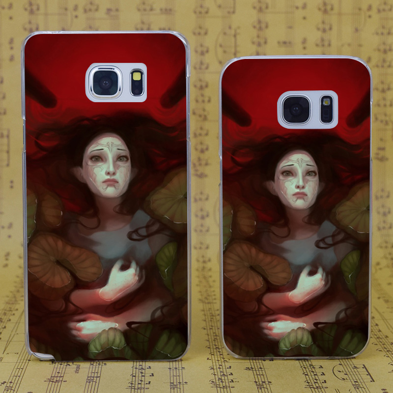 e8692a158bbd3d DROOM VOS B1022 Dragon Leeftijd Bloed Lotus Transparant Hard PC Case Cover  Voor Samsung Galaxy S 4 5 6 7 8 Mini Rand Plus Note 3 4 5 8