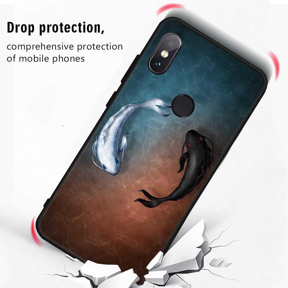 الطباعة ماتي القضية ل Xiaomi Redmi 6A 6 ملاحظة برو 5A ملاحظة 4 4X لينة TPU جراب هاتف شاومي Pocophone F1 Mi8 SE Mi6X لينة TPU حالة