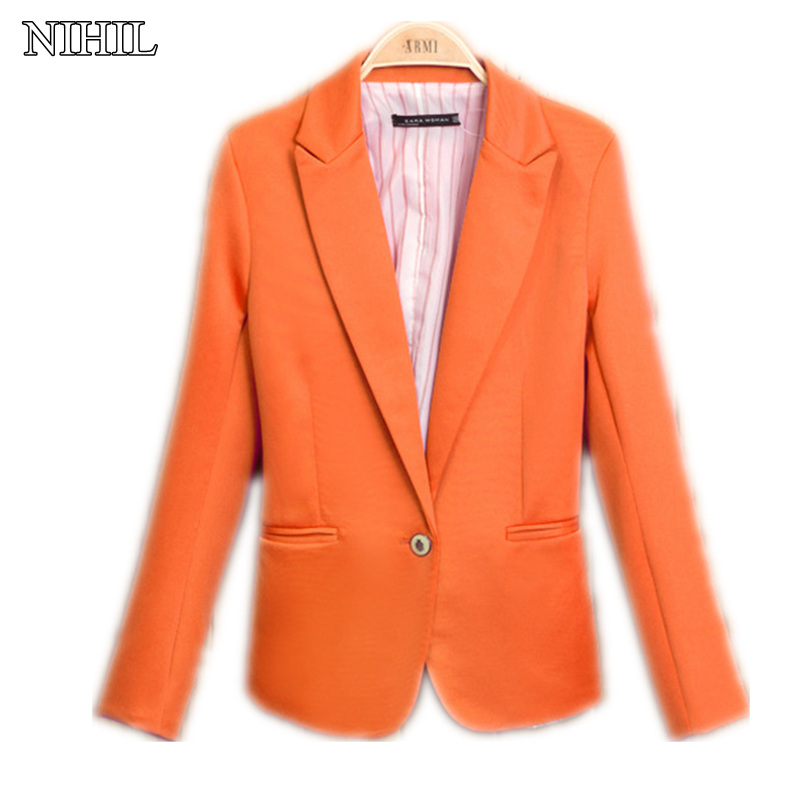 XS-XXL Women Fashion Black Blazers And Jackets 2017 Spring New Fashion Candy Color Desig ...