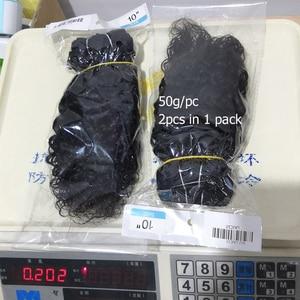 Image 4 - MOGUL שיער 50 גרם\יחידה 4/6 חבילות עם סגירת מים גל Ombre בלונד דבש ברזילאי ללא רמי שיער טבעי חום קצר בוב סגנון